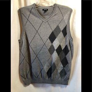 Apt 9 Argyle V-Neck Sweater Size S #2218